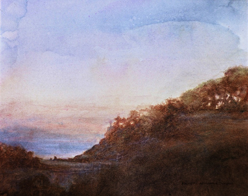 image of watercolor landscape painting After the Storm III by David Ladmore