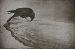 image of drypoint etching 'At the still centre of the turning world, there the dance is.' by David Ladmore