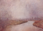 image of watercolor landscape painting Delta by David Ladmore