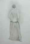 image of graphite nude Drawing for Red Shoe by David Ladmore