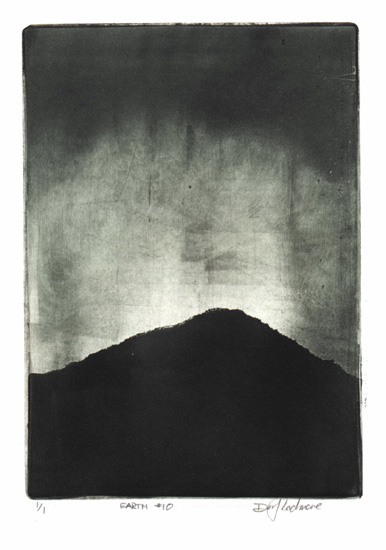image of landscape monotype print Earth #10 by David Ladmore