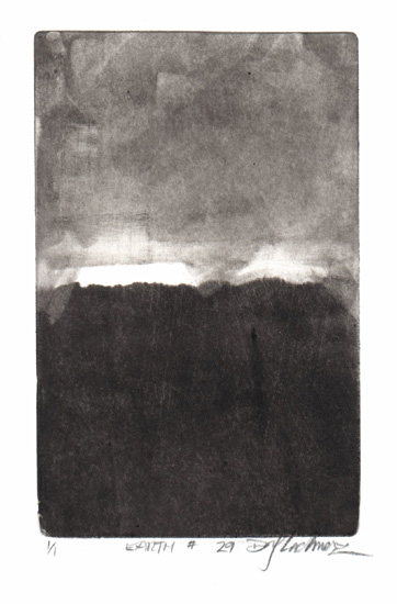 image of landscape monotype print Earth #29 by David Ladmore