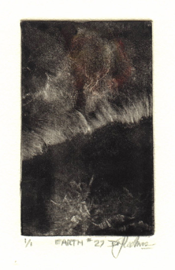 image of landscape monotype print Earth #27 by David Ladmore