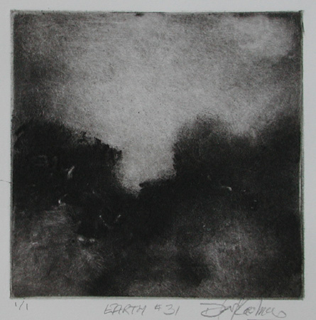 image of landscape monotype print Earth #31 by David Ladmore