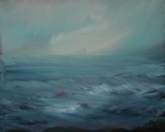 image of ocean oil painting Elemental 33 by David Ladmore
