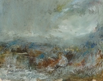 image of coastal landscape oil painting Elemental 35 by David Ladmore