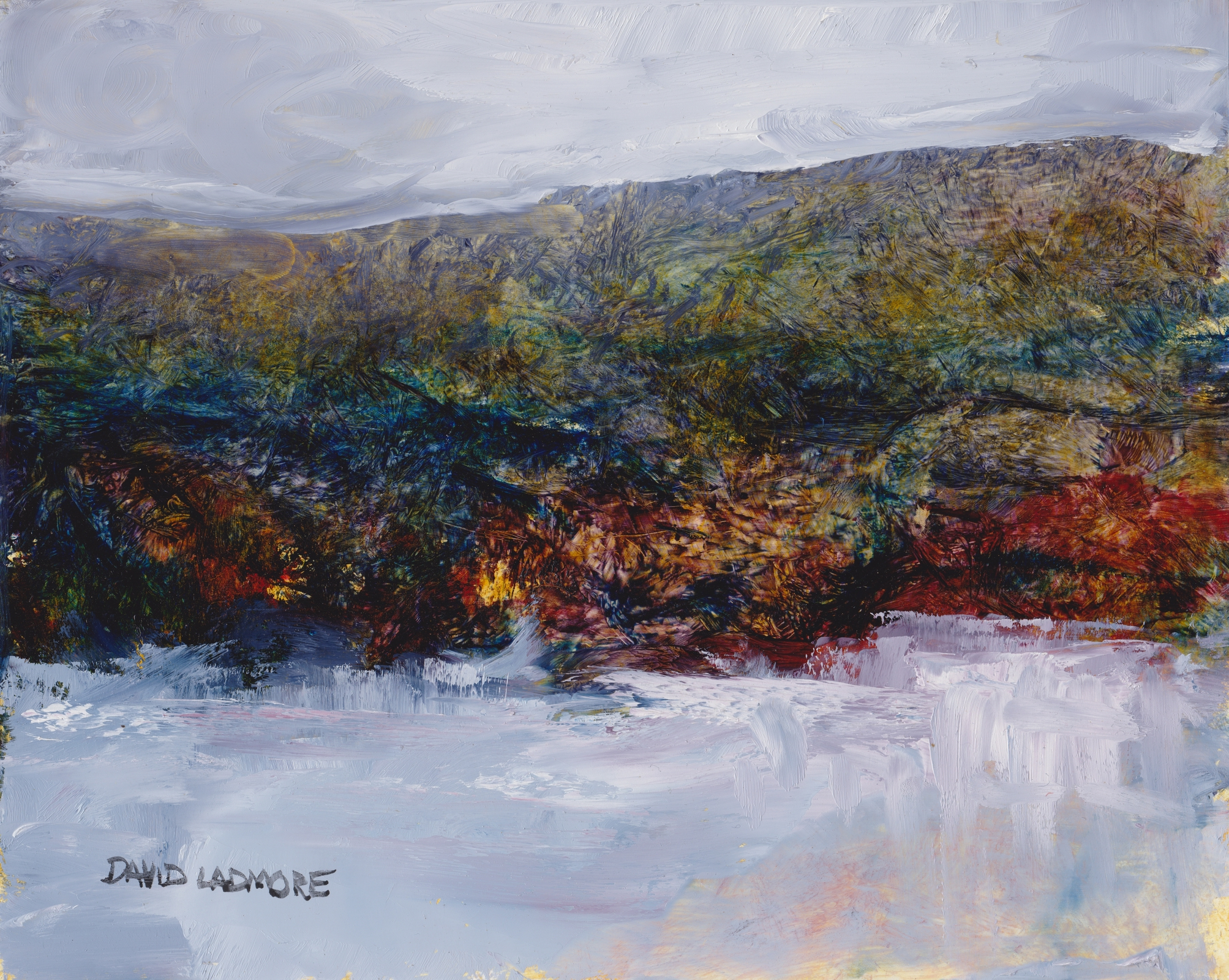 image of coastal landscape oil painting Elemental 40 by David Ladmore