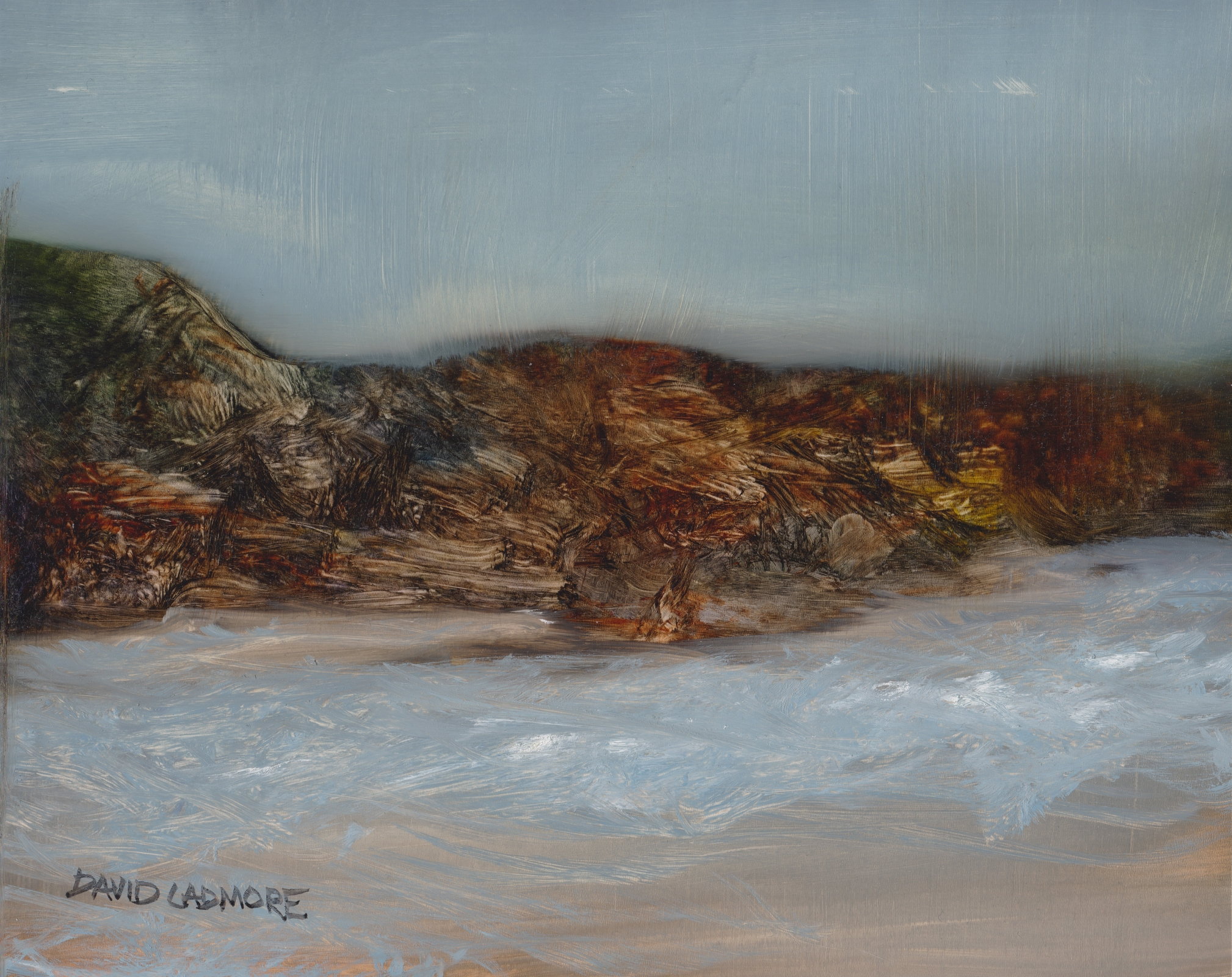image of coastal landscape oil painting Elemental 42 by David Ladmore