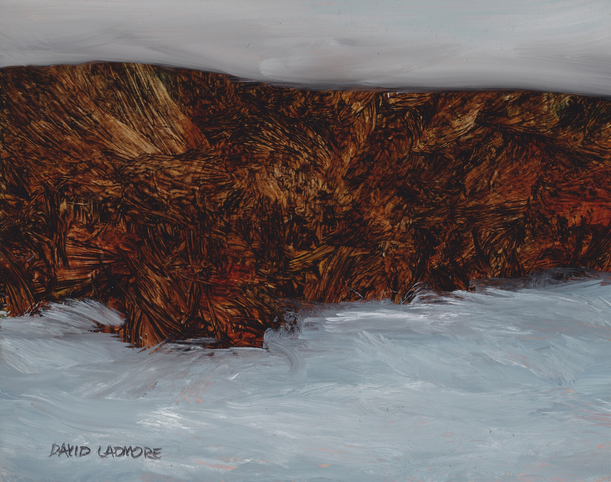 image of coastal landscape oil painting Elemental 43 by David Ladmore