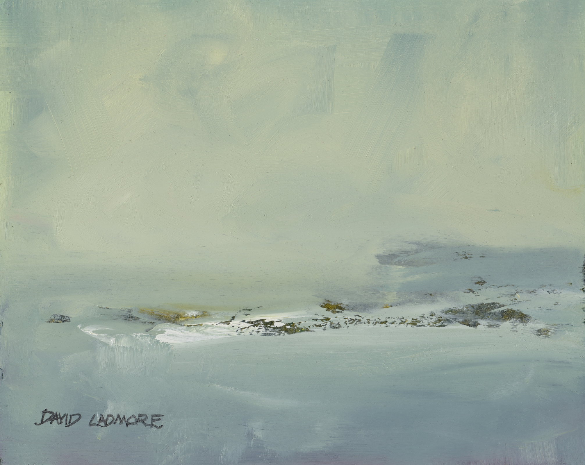 image of coastal landscape oil painting Elemental 45 by David Ladmore