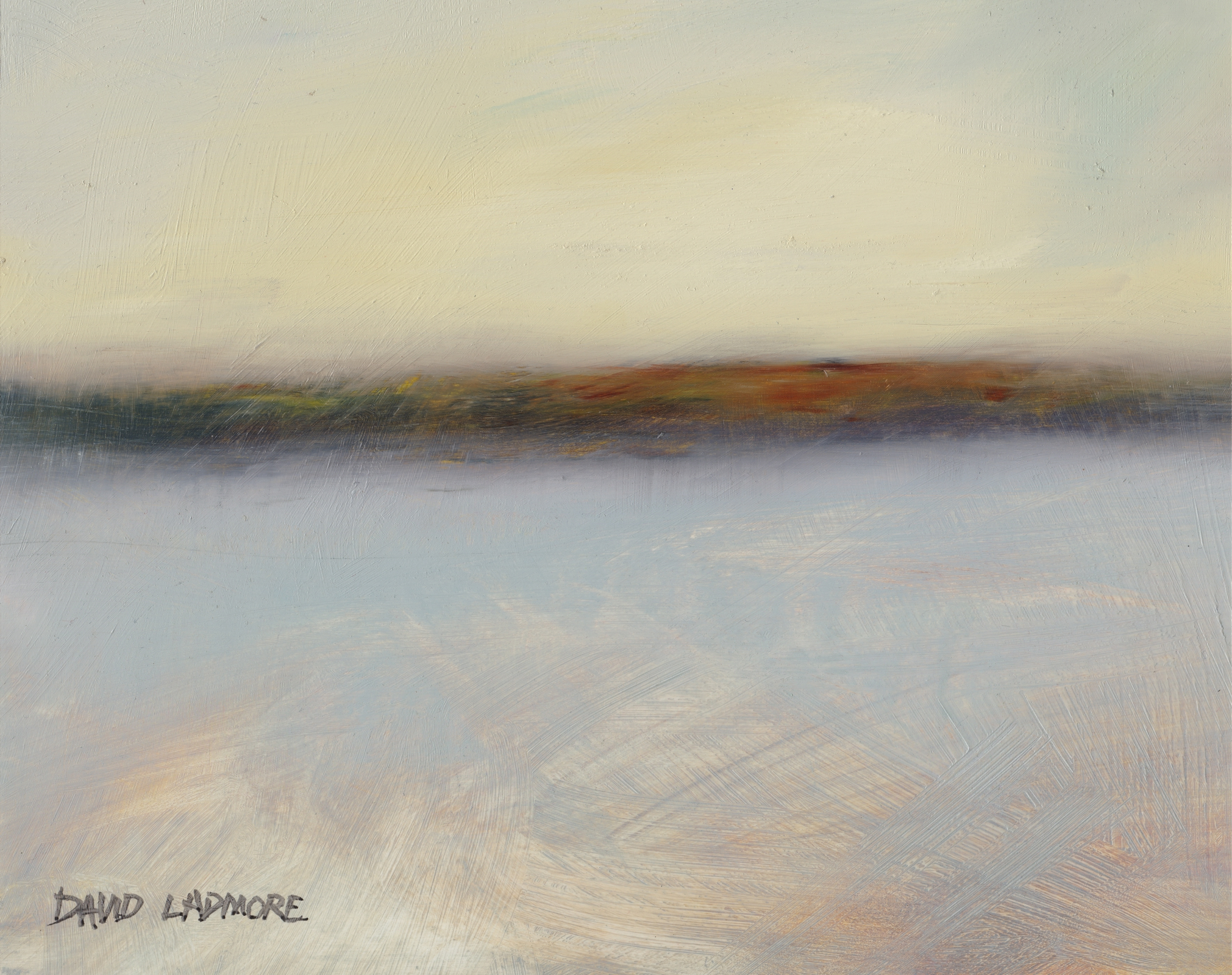 image of coastal landscape oil painting Elemental 49 by David Ladmore