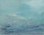 image of coastal landscape oil painting Elemental 51 by David Ladmore