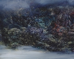 image of coastal landscape oil painting Elemental 59 by David Ladmore