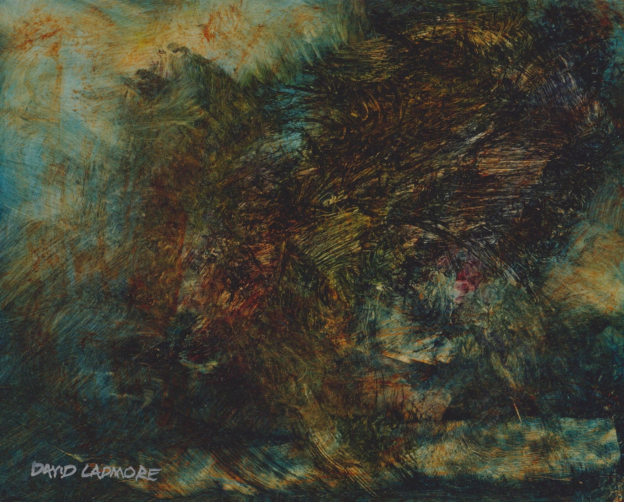 image of landscape oil painting Elemental 61 by David Ladmore