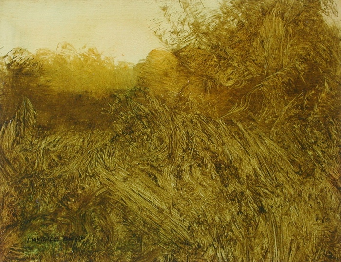 image of landscape oil painting Evening Field 13 by David Ladmore
