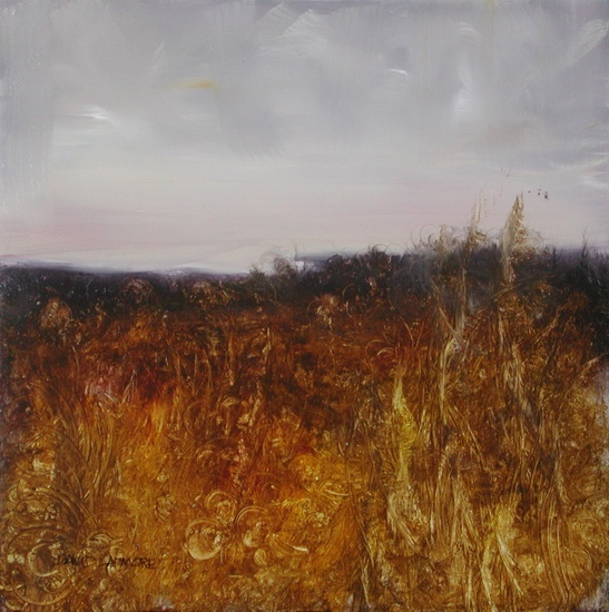 image of landscape oil painting Evening Field 12 by David Ladmore