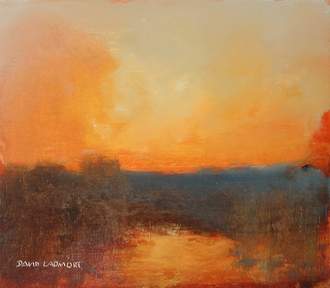 image of landscape oil painting Evening Light 7 by David Ladmore