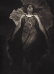 image of figurative mezzotint etching Evocation by David Ladmore