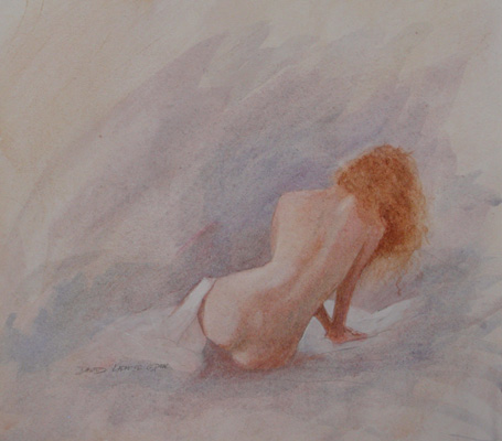 image of watercolor nude Figure Study #12 by David Ladmore