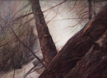 image of watercolor landscape painting Forest Study III by David Ladmore