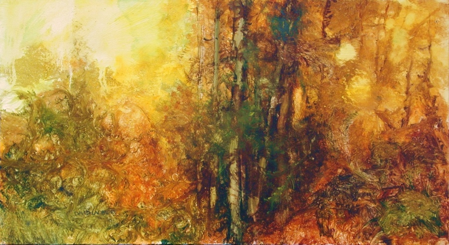image of landscape oil painting Forest Light 17 by David Ladmore