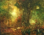 image of landscape oil painting Forest Light 18 by David Ladmore