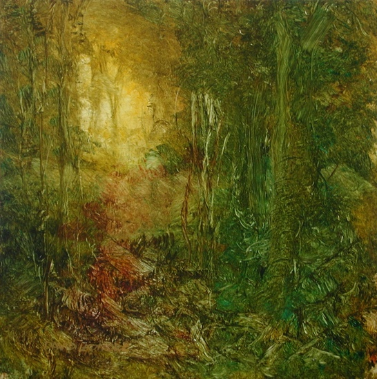 image of landscape oil painting Forest Light 21 by David Ladmore