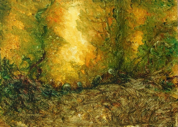 image of landscape oil painting Forest Light 26 by David Ladmore