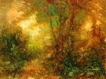 image of landscape oil painting Forest Light 36 by David Ladmore