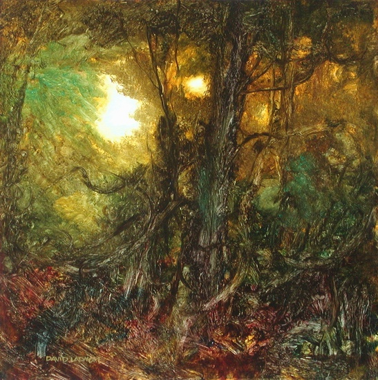 image of landscape oil painting Forest Light 39 by David Ladmore