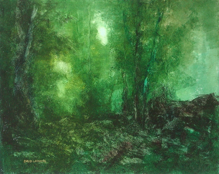 image of landscape oil painting Forest Light 40 by David Ladmore