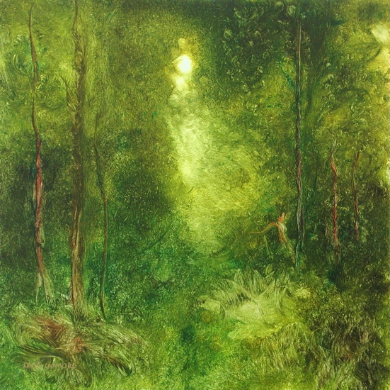 image of landscape oil painting Forest Light 49 by David Ladmore