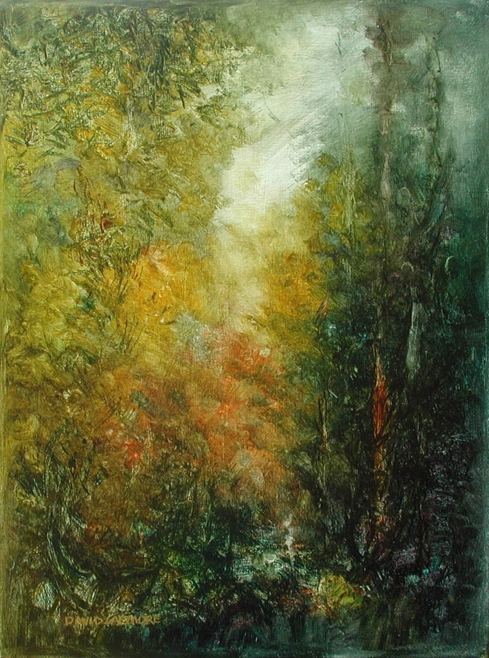 image of landscape oil painting Forest Light 51 by David Ladmore