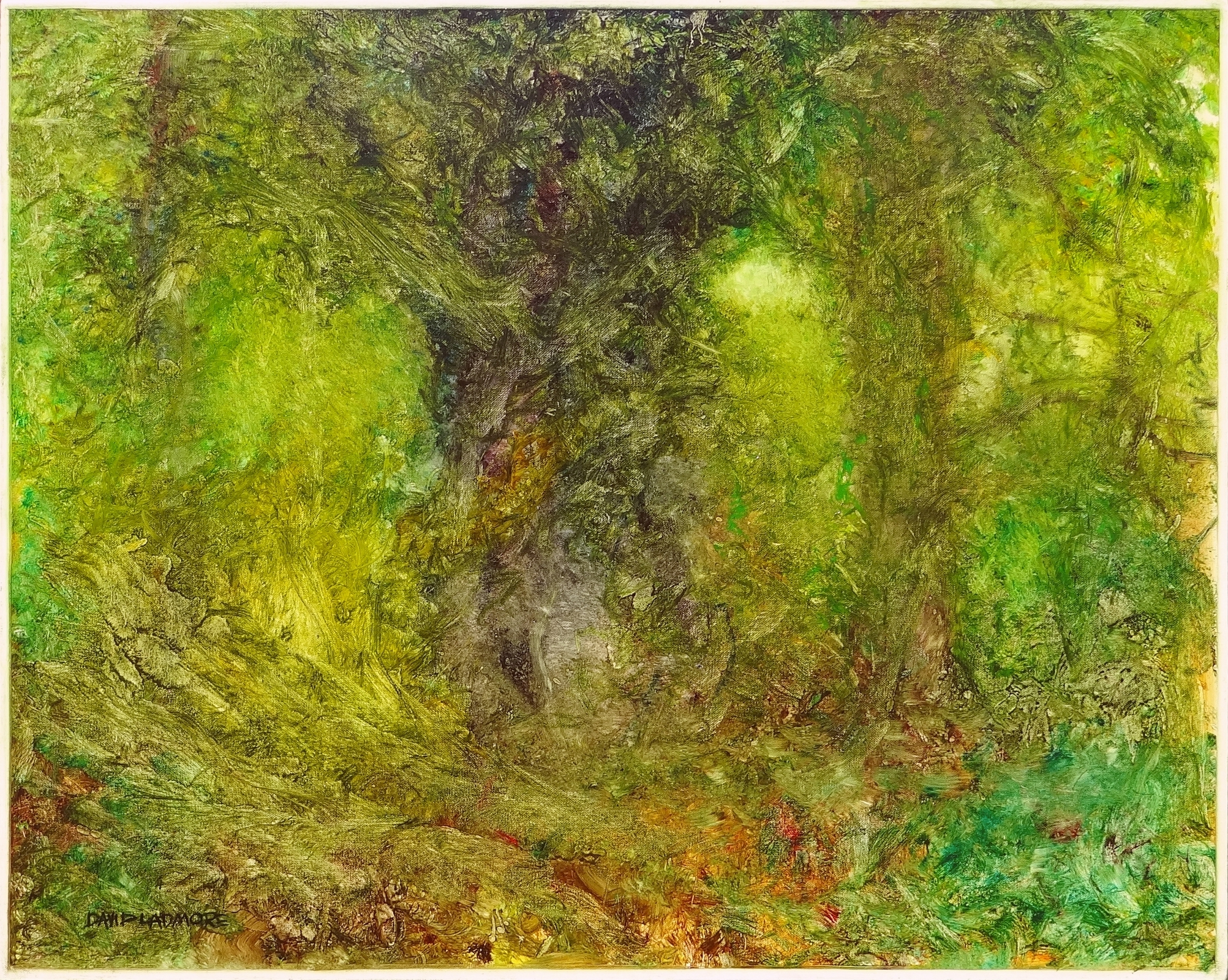 image of landscape oil painting Forest Light 53 by David Ladmore