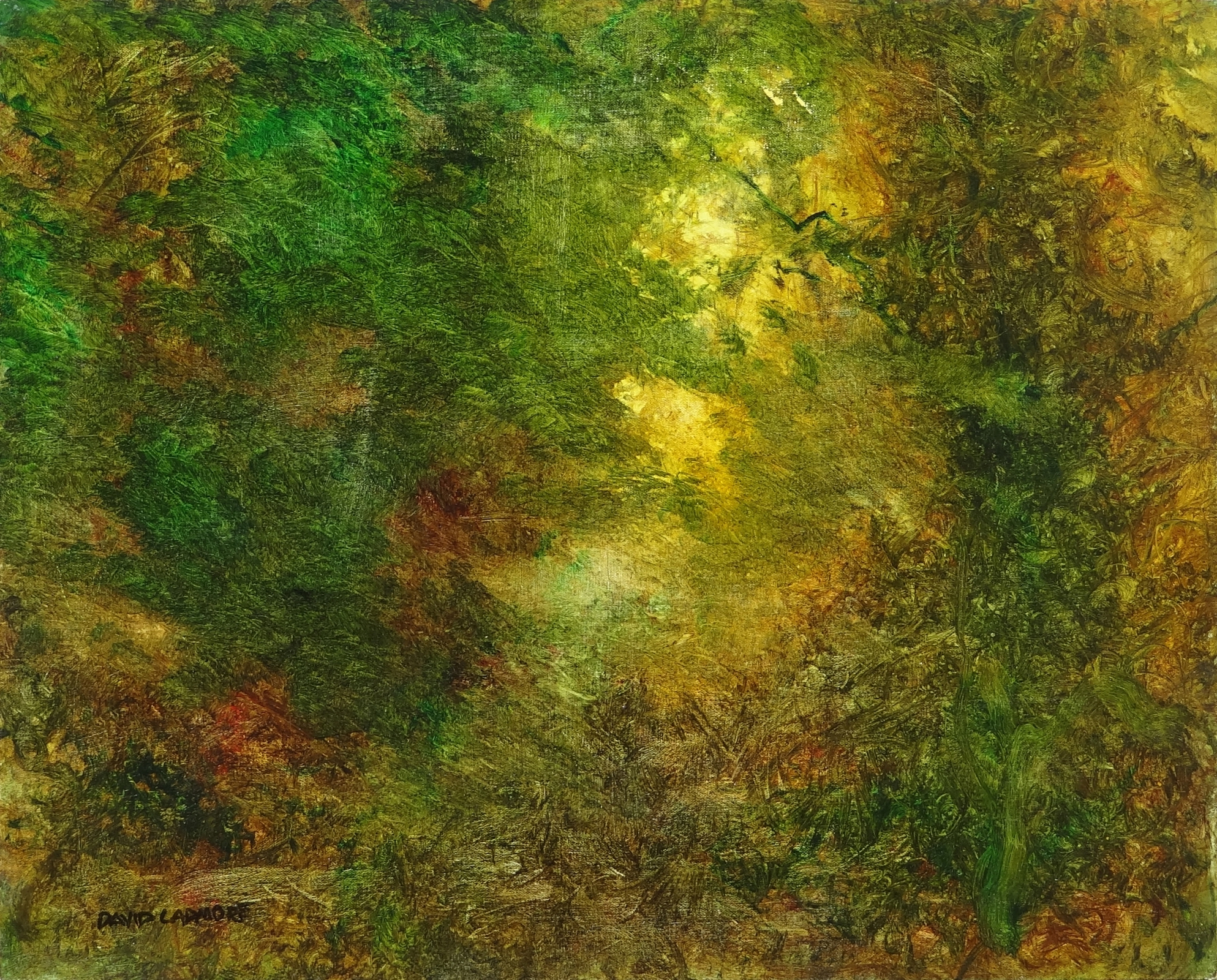 image of landscape oil painting Forest Light 56 by David Ladmore