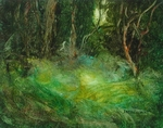 image of landscape oil painting Forest Light 58 by David Ladmore