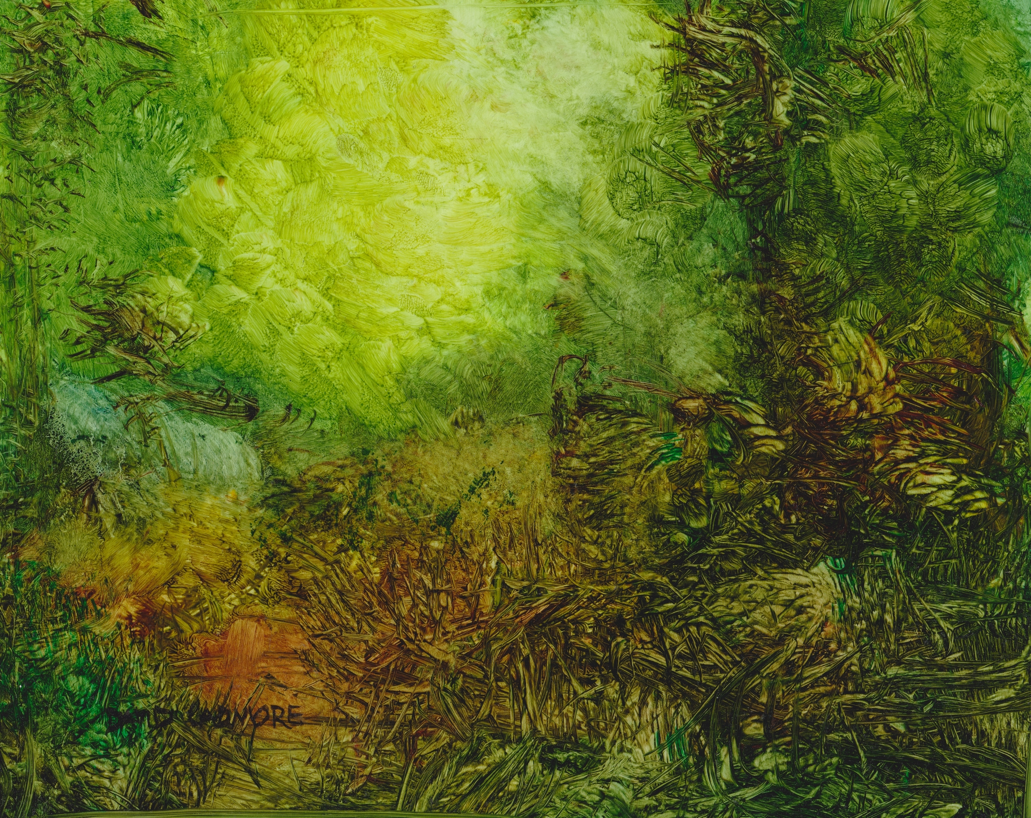 image of landscape oil painting Forest Light 61 by David Ladmore