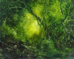 image of landscape oil painting Forest Light 71 by David Ladmore