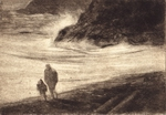 image of etching High Wind by David Ladmore