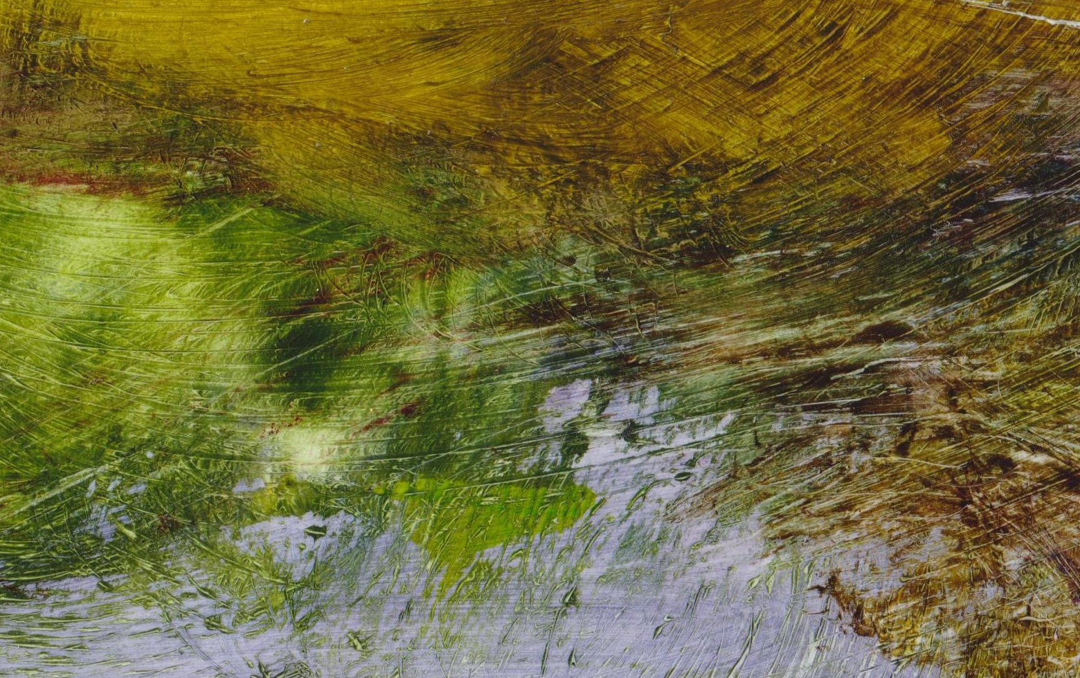 detail from landscape painting Moorland 75 by David Ladmore