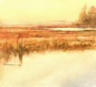 image of watercolor landscape painting Interior Landscape 6 by David Ladmore