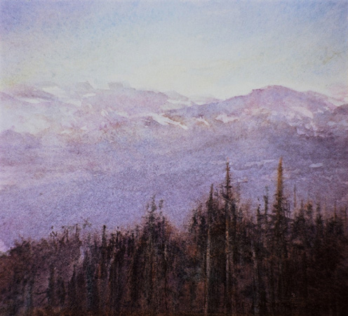 image of watercolor landscape painting Interior Landscape 3 by David Ladmore