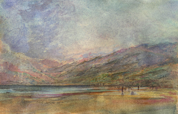 image of watercolour landscape painting Ireland I by David Ladmore