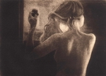 image of figurative mezzotint etching James Bay Interior by David Ladmore