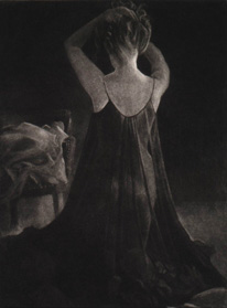 image of figurative mezzotint James Bay Interior III by David Ladmore