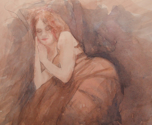 image of figurative watercolor painting James Bay Interior #2 by David Ladmore