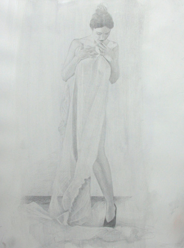 image of figurative silverpoint drawing James Bay Interior #4 by David Ladmore