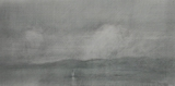 image of landscape goldpoint and silverpoint drawing Juan de Fuca Strait #9 by David Ladmore