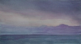 image of watercolor landscape painting Juan de Fuca Strait X by David Ladmore