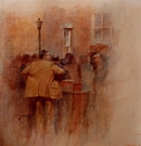 image of watercolor painting Knutsford Auction by David Ladmore